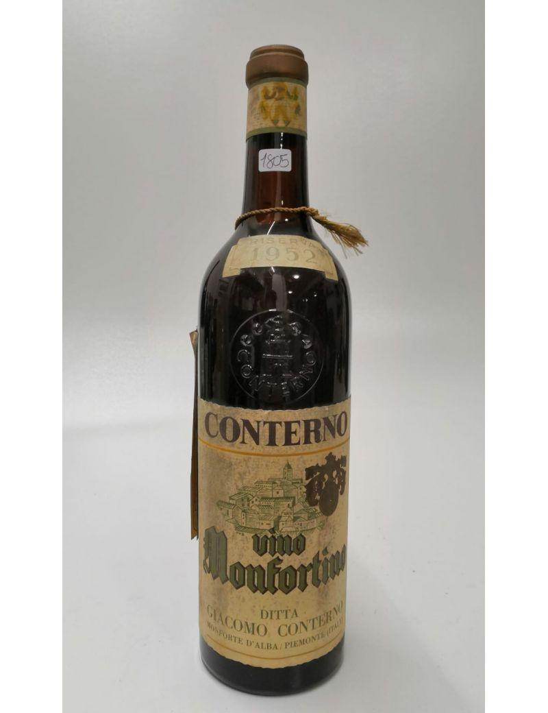 Vintage Bottle - Giacomo Conterno Barolo Monfortino Riserva 1952 0,72 lt. - COD. 1805