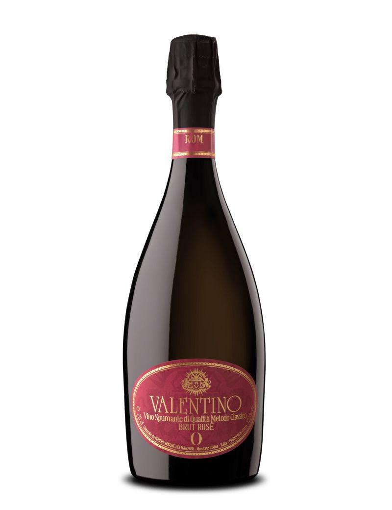 """Podere Rocche dei Manzoni - Metodo Classico Rosè Valentino """"Brut Zero Rosè"""" 2016 0,75 lt."""